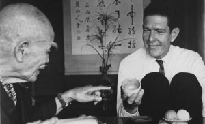 John Cage meets D.T. Suzuki in Japan, 1962.