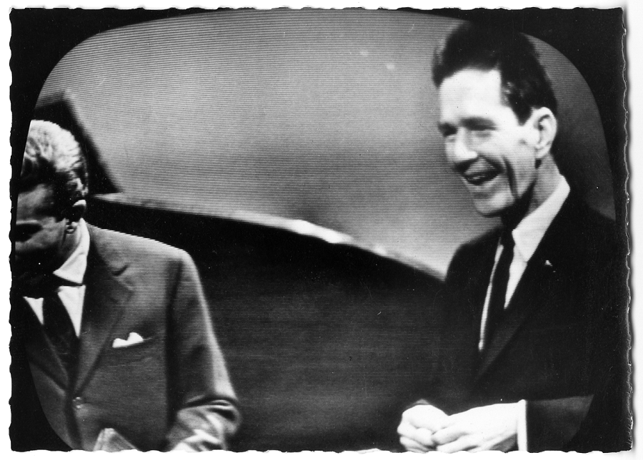 John Cage and Mike Bongiorno [John Cage Collection, Northwestern University (Evanston, IL